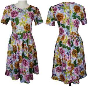 Lularoe NWT Pastel Floral Amelia Size Medium